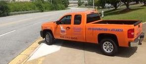 Water Damage Restoration Pickup Truck