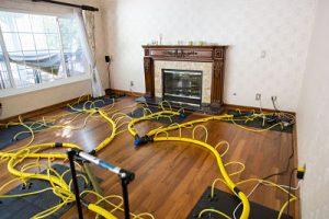 water-damage-restoration-equipment-fireplace